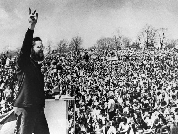 Ira Einhorn at the April 1970 Earth Day celebration in Philadelphia [AP Photo/Temple University]