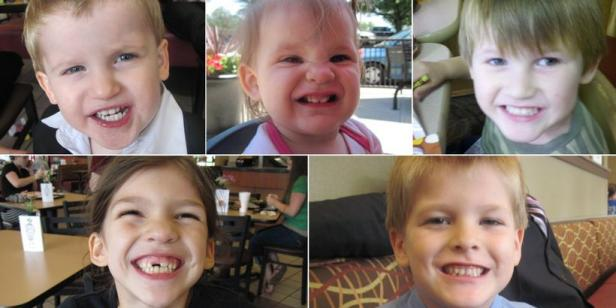 The five children of Timothy Jones, Jr. [Lexington County Sheriff's Department]