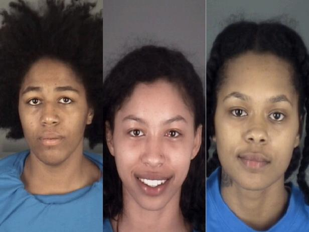 Mug shots of Cecilia Eunique Young, Jeniyah McLeod, Oasis Shakira McLeod [Dade City Police Department]