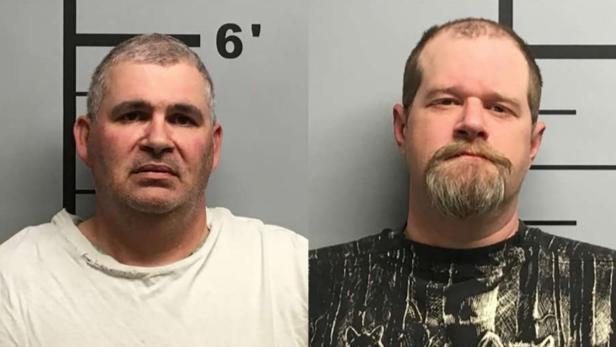 Mug shots of Charles Eugene Ferris; Christopher Hicks [Benton County Sheriff's Office]