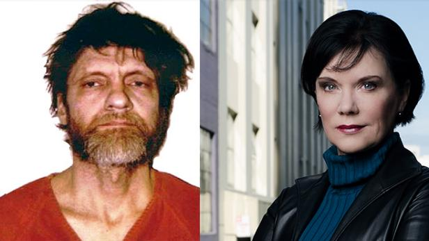 Mug shot of Ted Kaczynski [FBI]; Candice DeLong [courtesy Candice DeLong]