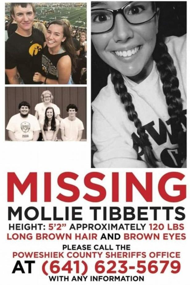 Mollie Tibbetts Missing Poster [Iowa Department of Criminal Investigation]