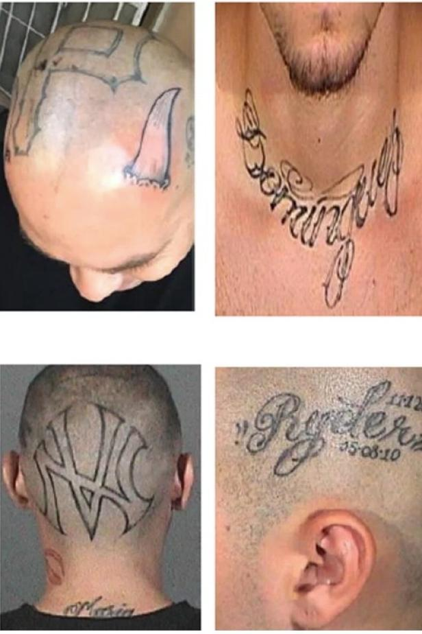 Derek Bryan Dominguez's tattoos [Los Angeles Police Department]