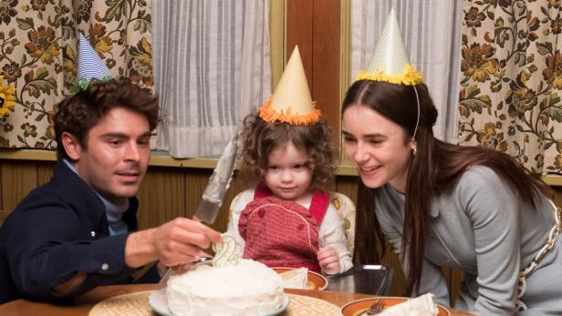 Zac Efron, Marcie Carmosino, Lily Collins in Extremely Wicked, Shockingly Evil and Vile [Brian Douglas/Courtesy of Sundance Institute]