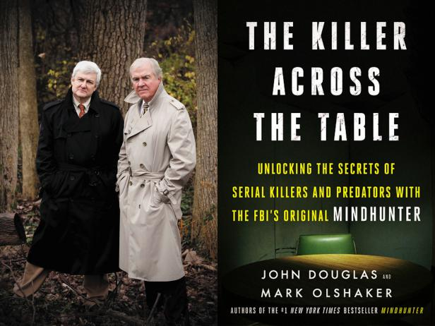 Mark Olshaker & John Douglas; The Killer Across the Table cover art [courtesy Harper Collins]