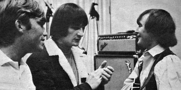 Terry Melcher in the studio with the Byrds [Wikimedia Commons/KRLA]