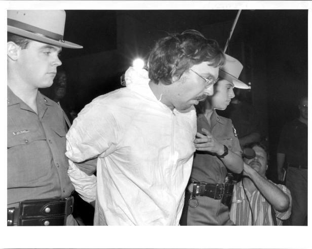 The arrest of Joel Rifkin [Joe DeMaria/New York Post Archives /(c) NYP Holdings, Inc. via Getty Images]