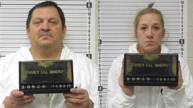 Mug shots of Aubrey Trail & Bailey Boswell [Taney County Sheriff's Office]
