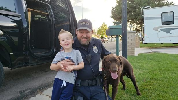 Talon, Police Officer Tom Smith, Beau [West Jordan Police Department]