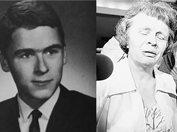 Ted Bundy [Wikimedia Commons]; Louise Bundy [AP Photo/Kathy Willens]